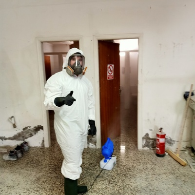 Nebulización para una desinfección