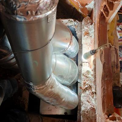 Instalación de insert con canalizaciones