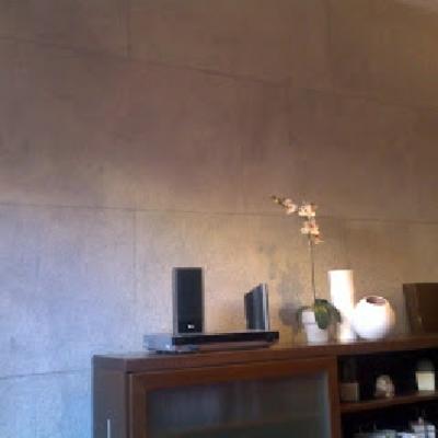 Imitación placas de piedra en vivienda particular