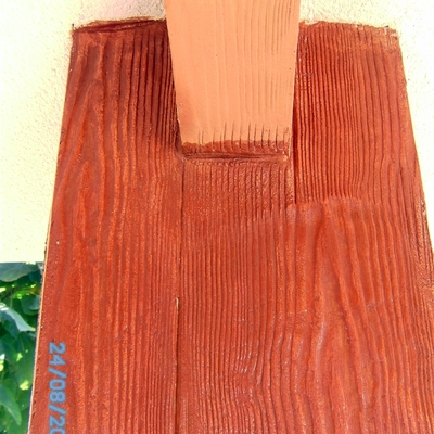 imitación vigas de madera con mortero