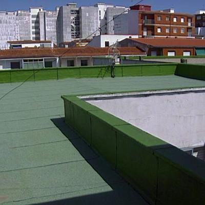 Impermeabilizacion con lamina autoprotegida acabada en granulo verde