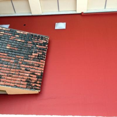 impermeabilizacion de terraza mediante pintura fibrada