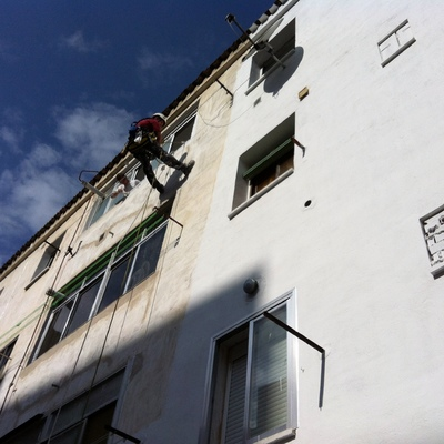 Impermeabilización fachada patío