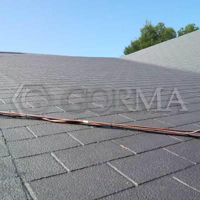 Impermeabilización tejado de tégola asfátlica