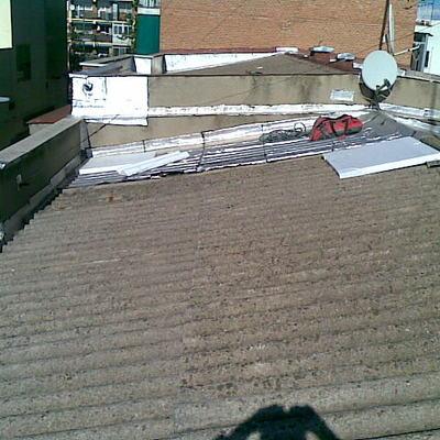 Impermeabilización tejado de uralita