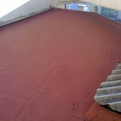 Impermeabilización tela mineral roja
