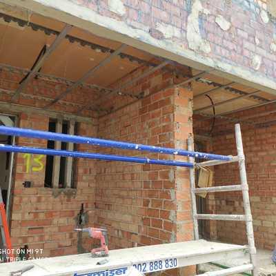 Estructura techo continuo exterior porche