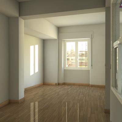 Infografia 3D reforma salon Salamanca