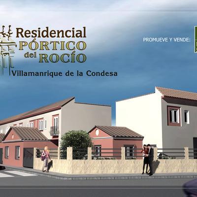 Infografia del exterior de viviendas en Villamanrrique de la condesa, Sevilla