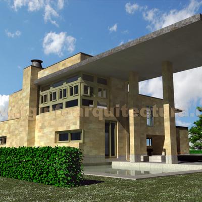 Infografía 3d villa