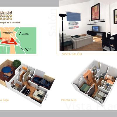 infografias del interior de viviendas en Villamanrrique de la condesa, Sevilla