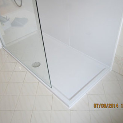 reforma baño plato de doucha   DESPUES