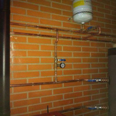 Instalación caldera de biomasa