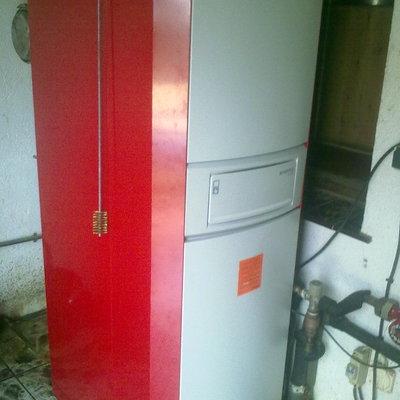 Instalación Caldera Mixta de Calefacción y Agua Sanitaria de Gasoil, Roca modelo Lidia
