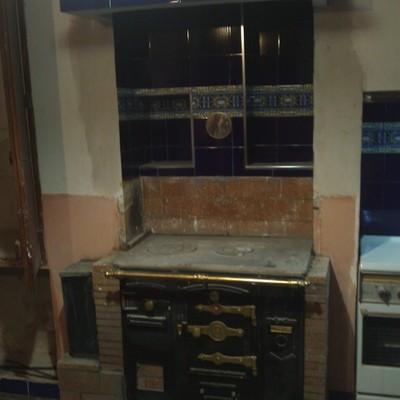 Instalación cocina de leña