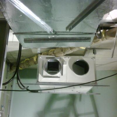 instalación de recuperador de calor