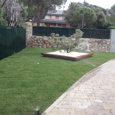 Instalación de riego, paisajismo, mantenimiento de jardines