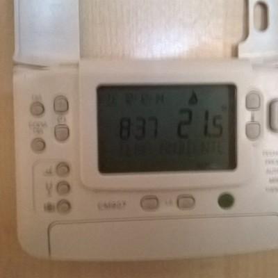 instalacion de termostato con control de zonas.