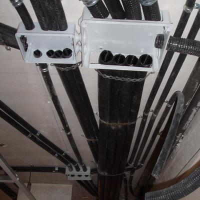 instalación eléctrica en techo