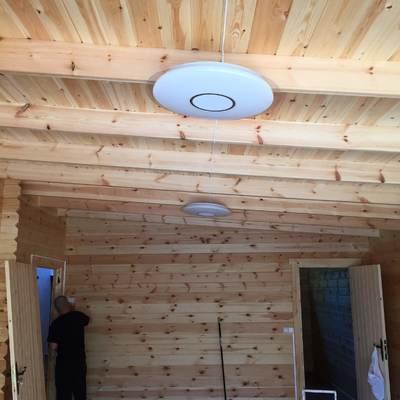 Instalación en cabaña de madera 2