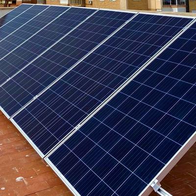 intalacion solar fotovoltaica en cubierta plana