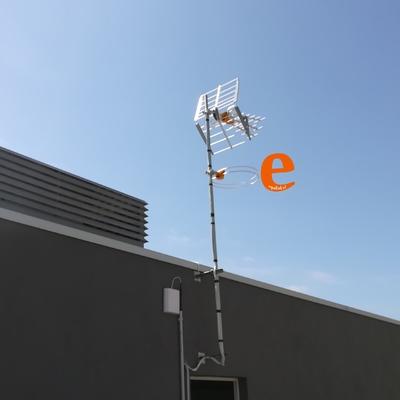 Instalación antena TV casa unifamiliar