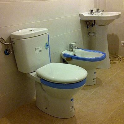instalacion saneamientos + griferia