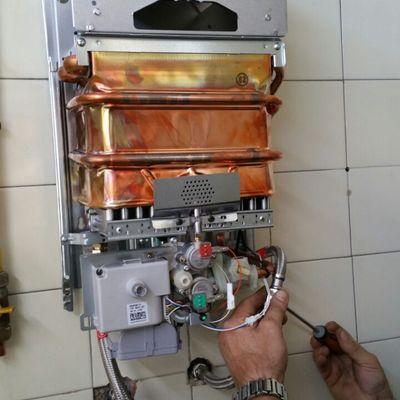 Instalación termo a gas JUNKERS