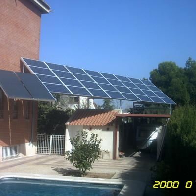 Soporte compartido termica y fotovoltaica