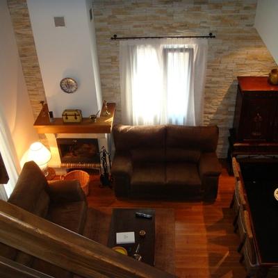 interior casa modular rustica