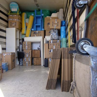 Interior de camión
