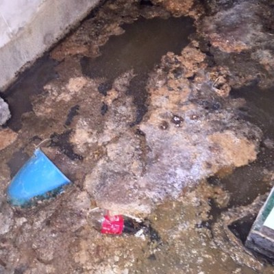 Inundación de aguas fecales