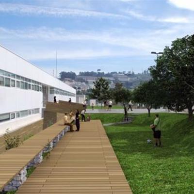 Jardín en la Universidad de A Coruña