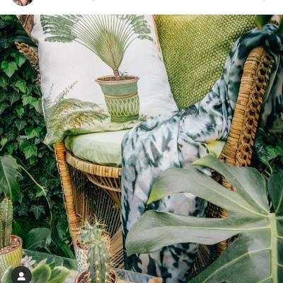 Jardín con estilo tropical