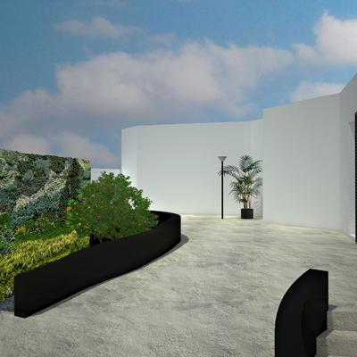 Infografía 3D de reforma integral de vivienda unifamiliar.