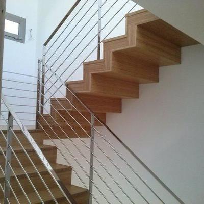 Escaleras de madera de Bamboo