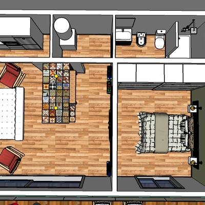 Diseño interior casa de fin de semana