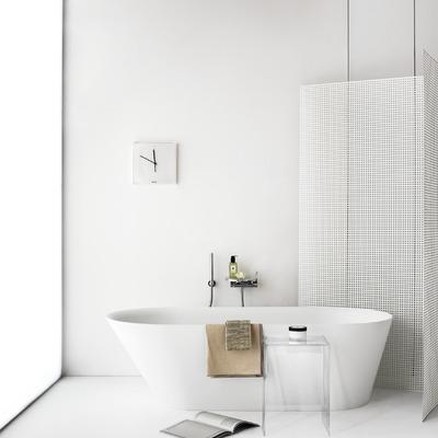 Baño en tonos blancos