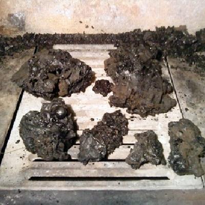 La creosota y el hollín forman piedras en los conductos