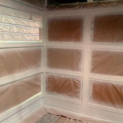 Lacado en blanco de ventana de aluminio