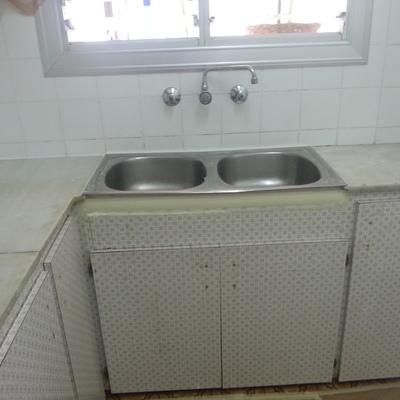 lacado en muebles de cocina antiguo