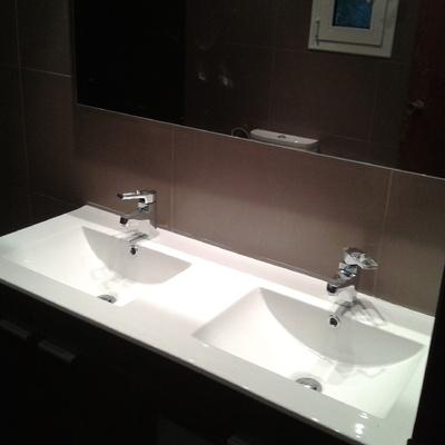 Lavabo con doble seno
