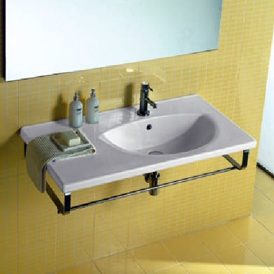 lavabo de un hogar minimalista