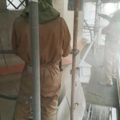 Lavado piedra silicato proyectado en seco