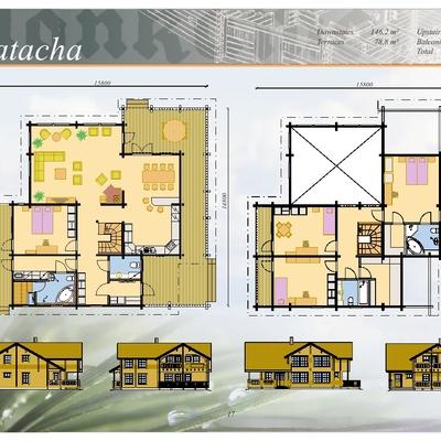 PLANOS,   Casa Mod. MATACHA/349