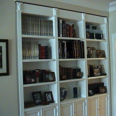 libreria en blanco
