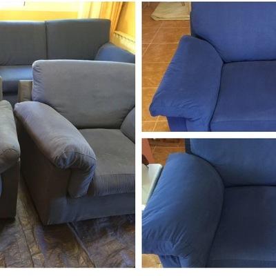 Sofa microfibra azul