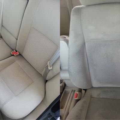 Limpieza de tapiceria de un vehiculo