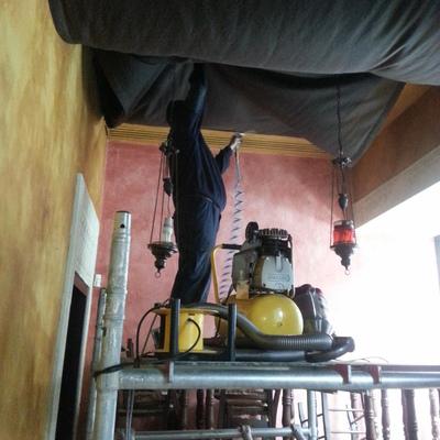 Limpieza de techo