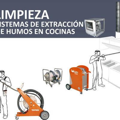 Limpieza del sistema de extracción de humo